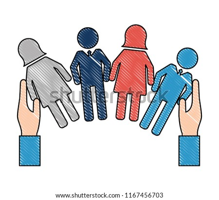 hands with people human resources