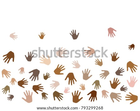 hands with skin color diversity