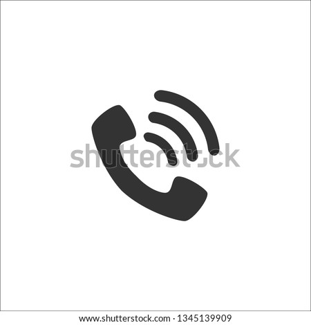 Handset with waves, icon, symbol. Vector illustration. EPS 10