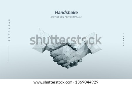handshake abstract image two