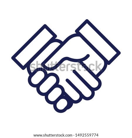 handshake done deal isolated icon