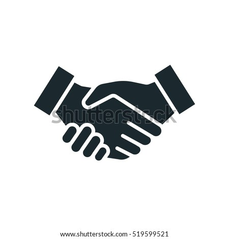 Handshake Friendship Partnership Minimalistic Flat Line Outline Stroke Icon Pictogram Symbol