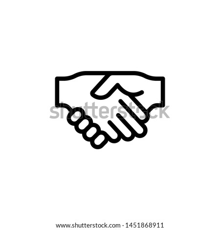 Handshake gesture outline icon. Element of hand gesture illustration icon. signs, symbols can be used for web, logo, mobile app, UI, UX