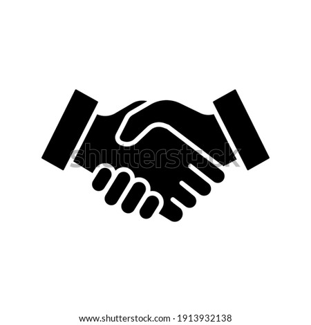 Handshake glyph icon. Simple solid style for web and app. Handshake, business partnership hand gesture concept. Vector illustration isolated on white background. EPS 10