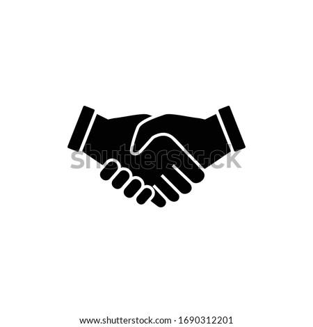 Handshake Icon, Handshake sign and symbol vector design