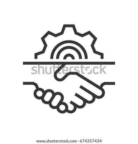 Handshake icon, part of the square icons, car service icon set. The illustration is a vector, editable stroke, thirty-two by thirty-two matrix grid, pixel perfect file.
