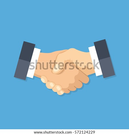 Handshake icon. Shake hands, agreement, good deal, partnership concepts. Premium quality. Modern flat design graphic elements. Vector illustration.
