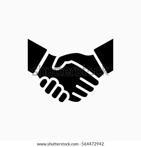 handshake icon simple vector...