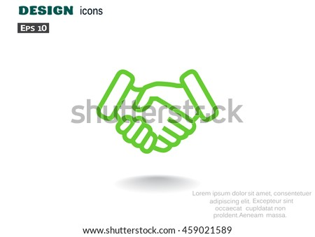 handshake icon vector.