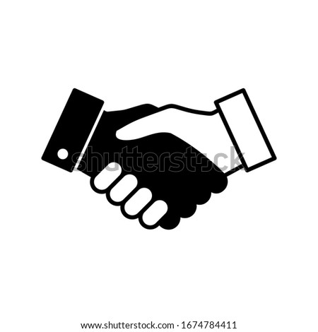 Handshake icon vector. Business handshake. contract agreement. Handshake, deal, partnership icon in trendy flat style