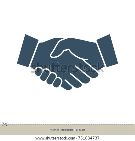 Handshake Icon Vector Logo Template