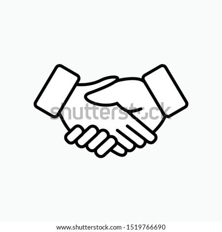 Handshake Icon - Vector, Sign and Symbol for Design, Presentation, Website or Apps Elements.