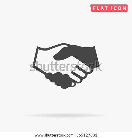 Handshake Icon Vector. Simple flat symbol. Perfect Black pictogram illustration on white background.