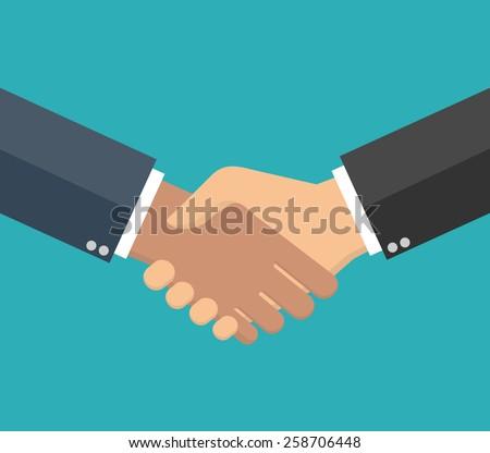 Handshake in flat style