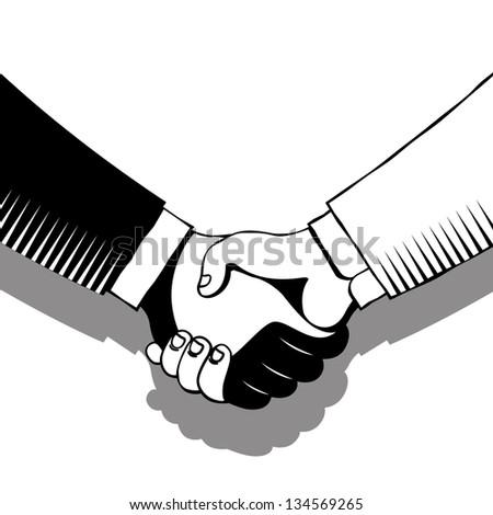 handshake in gray tones
