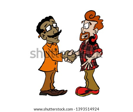 Handshake Indian businessman and young businessman