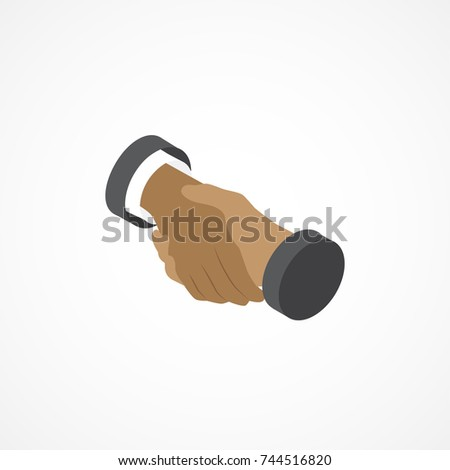 Handshake isometric icon. 3d vector illustration.