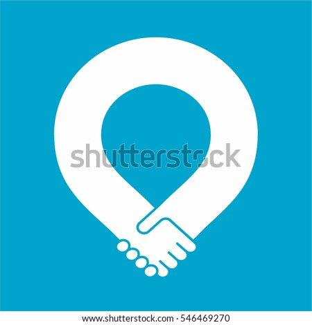 Handshake loop, friendship and partnership icon, unity symbol