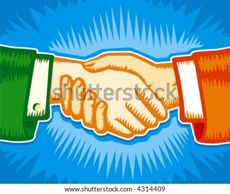Handshake, partnership symbol.