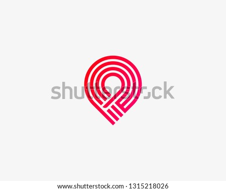 Handshake pin circle trust vector logo . Delivery, deal, team, shipping logotype.