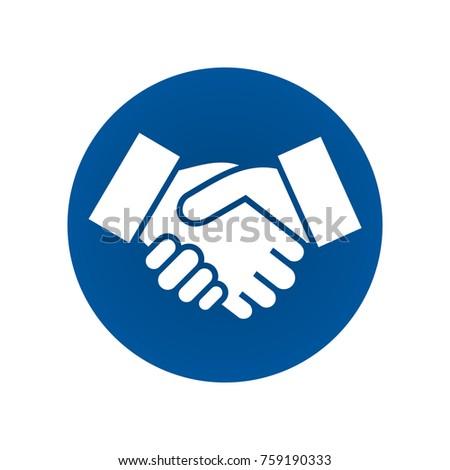 Handshake sign. Handshake icon simple vector illustration. Deal or partner agreement symbol.