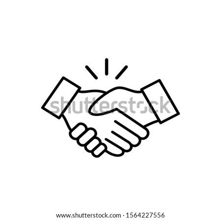 Handshake sign vector logo template Photo stock ©
