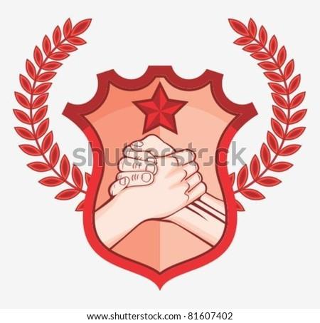 handshake symbol soviet symbol