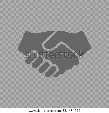 Handshake vector icon. Hands shaking symbol. Business deal symbol EPS 10 on transparent background.
