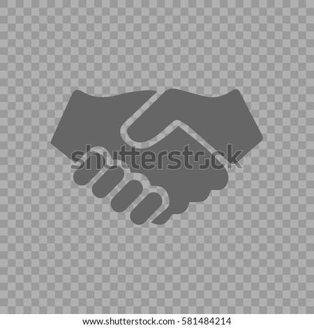 Handshake vector icon. Hands shaking symbol. Business deal symbol EPS 10 on transparent background.