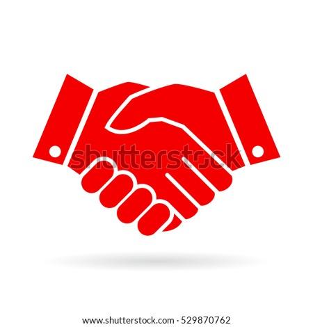 Handshake vector icon on white background. Hand shake vector icon. Handshake sign. Handshake vector clip art icon.