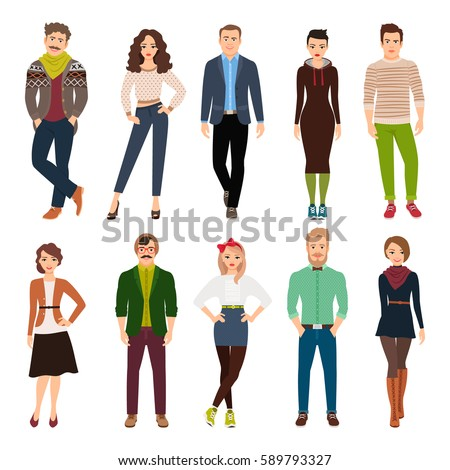 Royalty Free Group Of Young People In Casual Clothes 241380271 Stock Photo