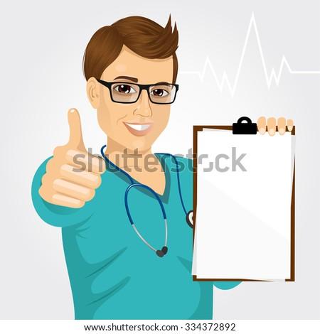 handsome male nurse or doctor