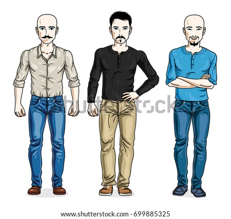 handsome men posing in stylish