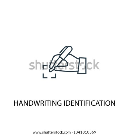 handwriting identification concept line icon. Simple element illustration. handwriting identification concept outline symbol design. Can be used for web and mobile UI/UX
