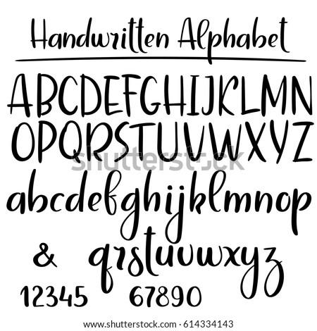 handwritten alphabet modern