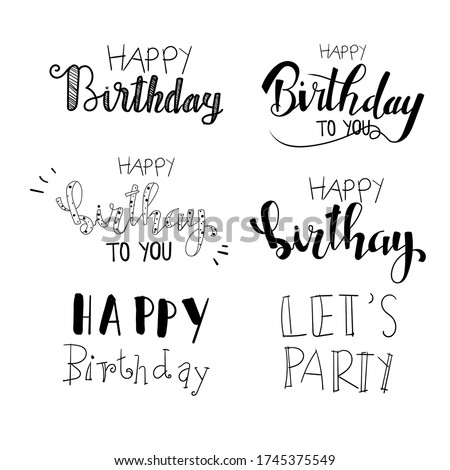 Handwritten birthdays element for celebrating birthdays online social distancing together,Digital greeting,greeting card birthdays,eCards for Birthday online,Sale Promotion,isolated vector