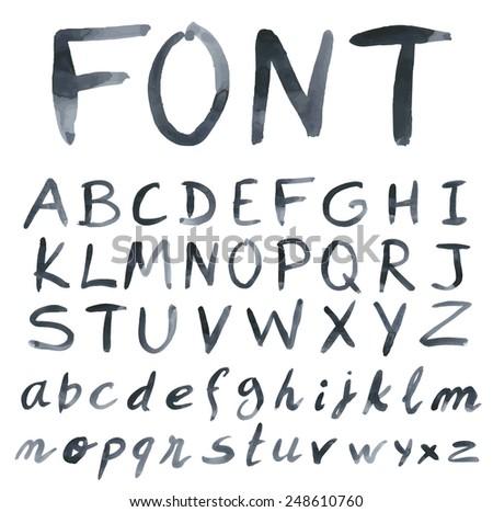 handwritten black font