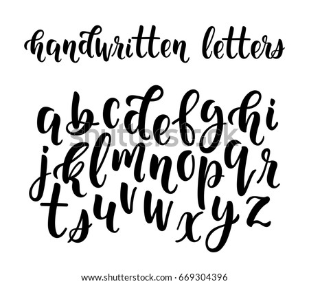 Lowercase Handwritten Letters Vector Alphabet