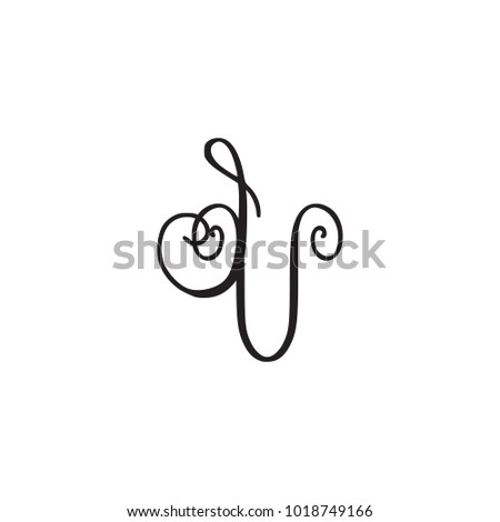 handwritten monogram iv icon