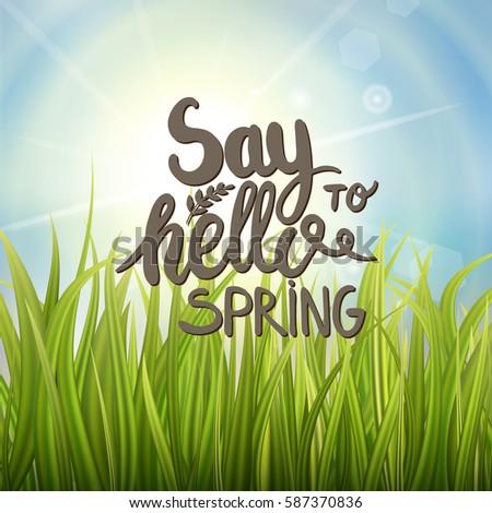 handwritten phrase on spring or