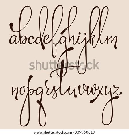 handwritten pointed pen ink
