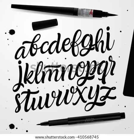 handwritten script font hand