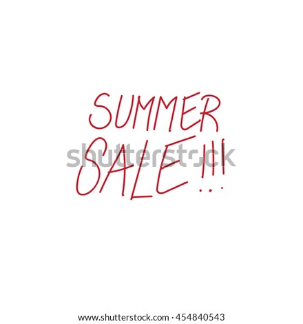 handwritten vector summer sale sign