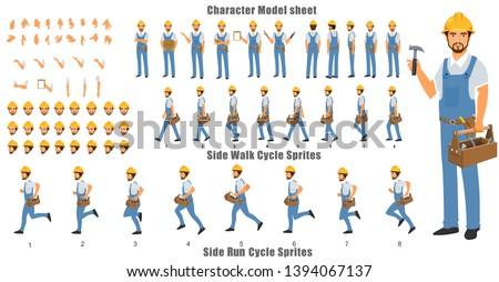 handyman character model sheet