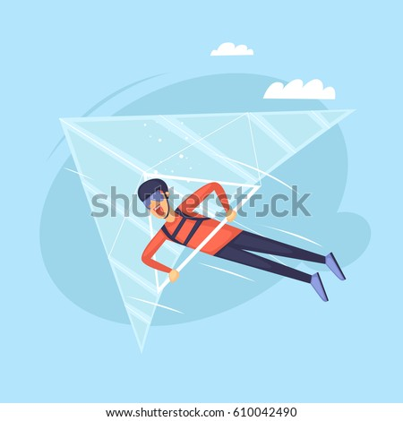 hang glider isolated extreme