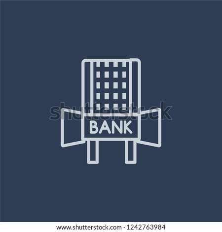 Hang Seng icon. Trendy flat vector line Hang Seng icon on dark blue background from Business  collection.
