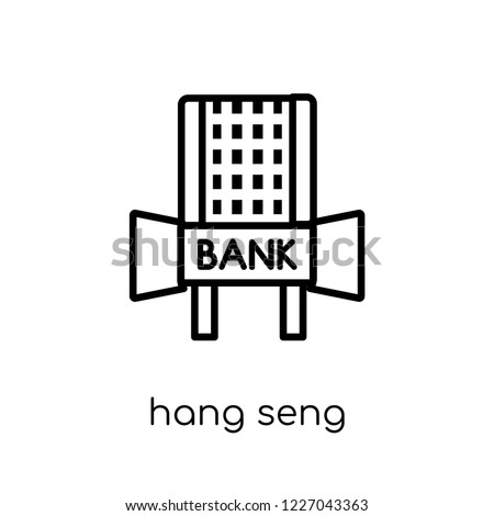 Hang Seng icon. Trendy modern flat linear vector Hang Seng icon on white background from thin line Business collection, editable outline stroke vector illustration