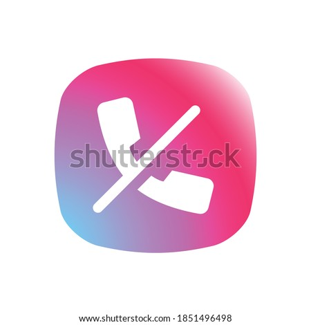 Hang Up - App Icon Button Stock foto ©