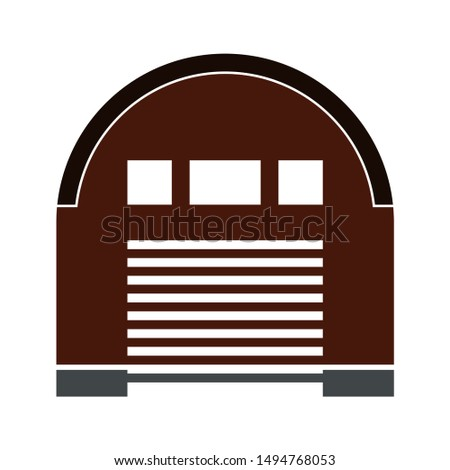 hangar icon. flat illustration of hangar vector icon. hangar sign symbol