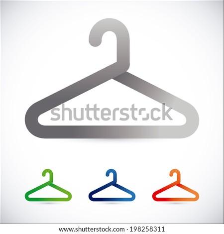 Hanger design over white background, vector illustration - stock ...